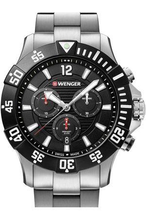 Wenger Reloj analógico 01.0643.117, Quartz, 43mm, 20ATM para hombre
