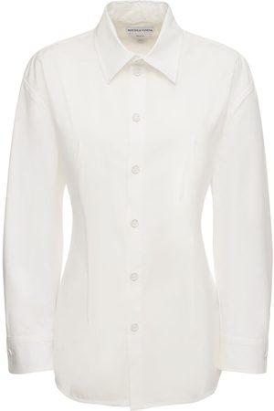 Bottega Veneta | Mujer Camisa De Popelina De Algodón Stretch 36