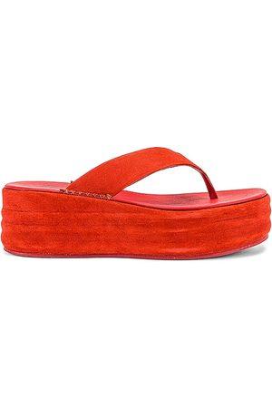 Free People Sandalias de plataforma haven en color rojo talla 38 en - Red. Talla 38 (también en 39, 40, 41, 37).