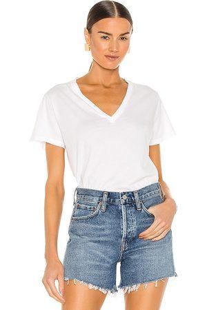 AGOLDE Camiseta thea en color talla L en - White. Talla L (también en XS, S, M, XL).