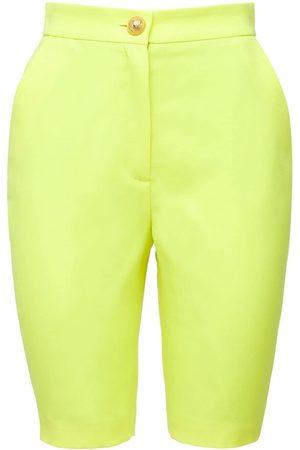 Balmain | Mujer Shorts Cycling De Lana Grain De Poudre 34