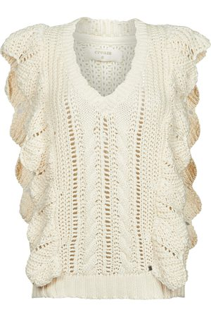 Cream Jersey ANNOLINA KNIT SLOPOVER para mujer