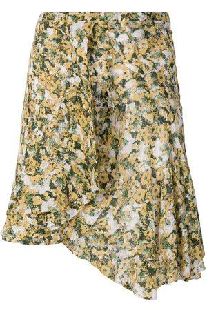 Isabel Marant Falda corta Ferna con estampado floral