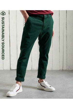 Superdry Hombre Pantalones chinos - Pantalones chinos ajustados de algodón orgánico Core