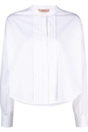 Twin-Set Camisa con detalle de pliegues