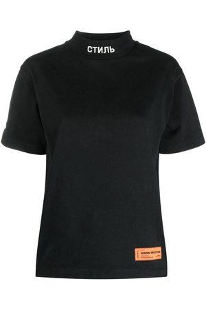 Heron Preston Camiseta con parche del logo