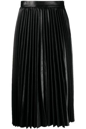 RED Valentino Falda de cintura alta plisada