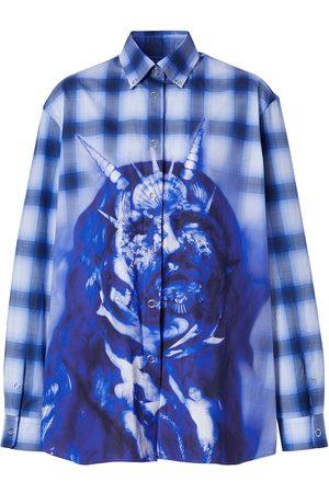 Burberry Camisa a cuadros con motivo Sea Maiden