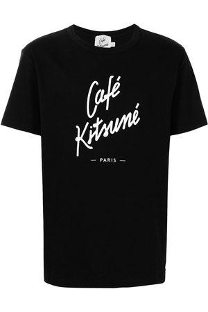 Maison Kitsuné Camiseta con cuello redondo y logo