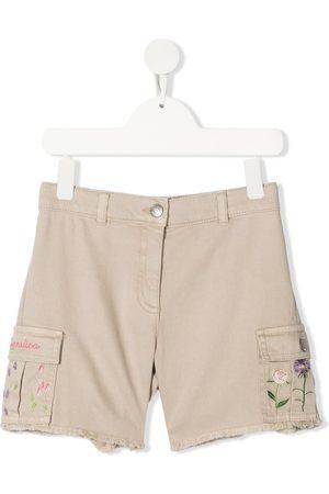 MONNALISA Pantalones cortos con bolsillo cargo con bordado