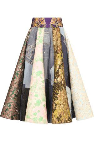 Dolce & Gabbana Falda midi con estampado de patchwork