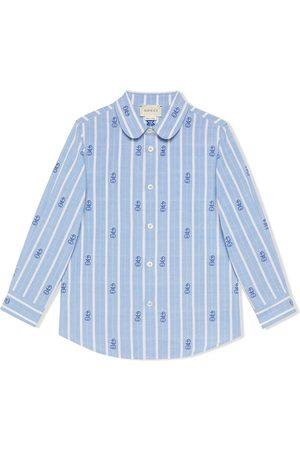 Gucci Camisa con motivo Interlocking G y anclas
