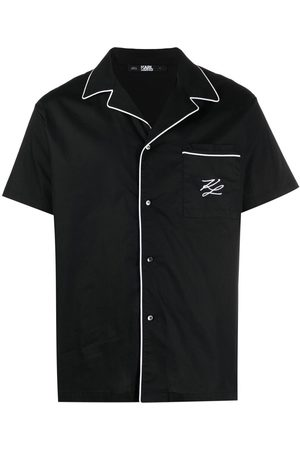 Karl Lagerfeld Camisa de pijama con ribete en contraste