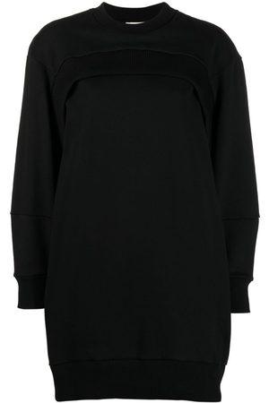 Alexander McQueen Vestido estilo sudadera con logo bordado