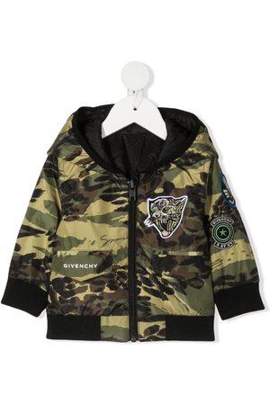 Givenchy Chaqueta con motivo militar y capucha