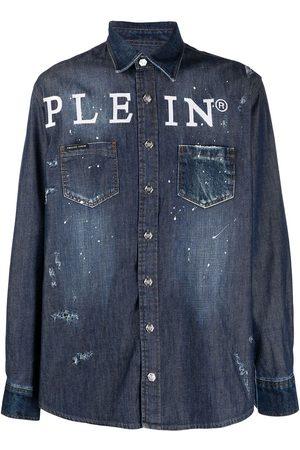 Philipp Plein Camisa vaquera con botones y logo