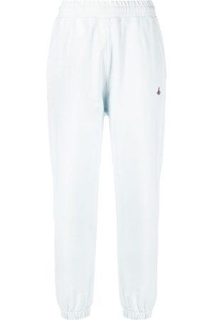 Vivienne Westwood Pantalones de chándal con bordado de orbe