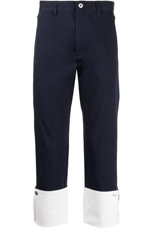 Ports V Pantalones chinos con dobladillo en contraste