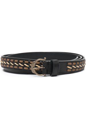 Saint Laurent Hombre Cinturones - Cinturón con hebilla con motivo de herradura