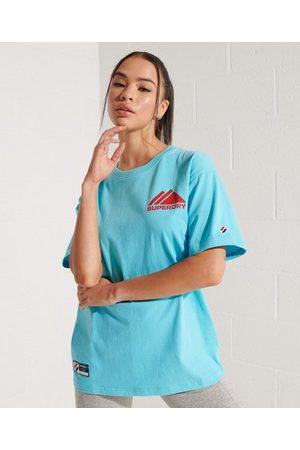 Superdry Mujer Tops - Camiseta monocromática Mountain Sport con logotipo en miniatura