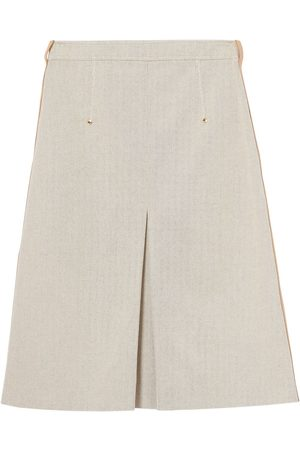 Burberry Falda de cintura alta acampanada