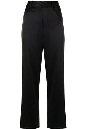 FLEUR DU MAL Pantalones de pijama de satén