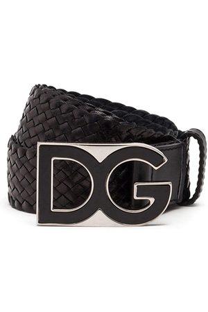 Dolce & Gabbana Cinturón entretejido con hebilla DG