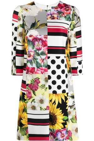 Dolce & Gabbana Vestido con estampado patchwork