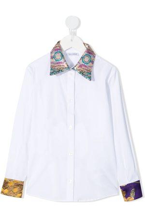Dolce & Gabbana Camisa con ribetes estampados