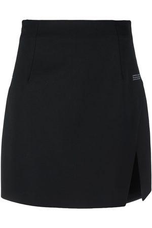OFF-WHITE Slit-detail high-waisted skirt