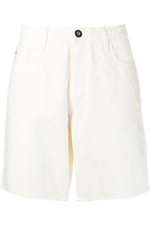 Emporio Armani Wide-leg cotton shorts