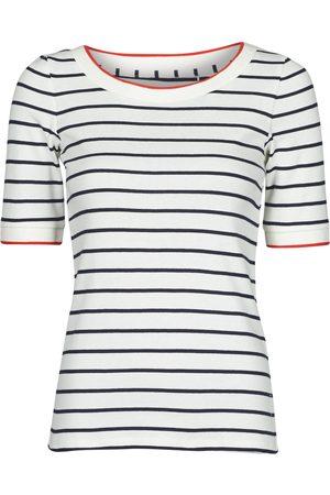 Esprit Mujer Camisetas - Camiseta RAYURES COL ROUGE para mujer
