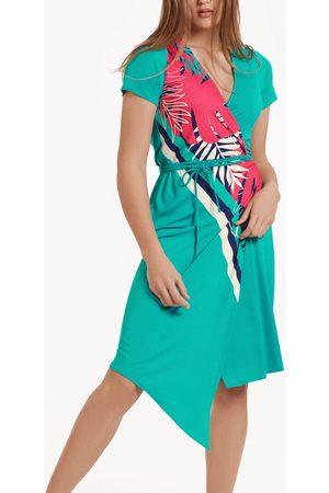 Lisca Vestidos Vestido de verano asimétrico manga corta Tahiti para mujer