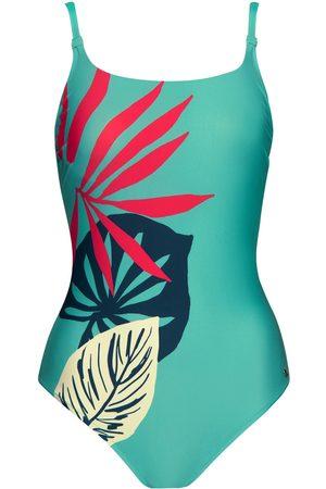 Lisca Bañador Traje de baño 1 pieza con aros Tahiti para mujer