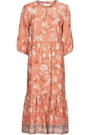 Cream Vestido largo JOHUI DRESS para mujer