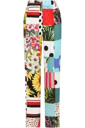 Dolce & Gabbana Pantalones anchos con diseño patchwork