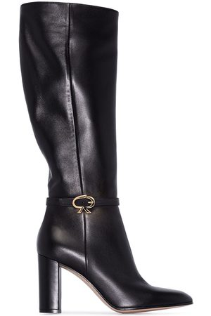 Gianvito Rossi Mujer Botas - Black Ribbon 85 knee-high leather boots