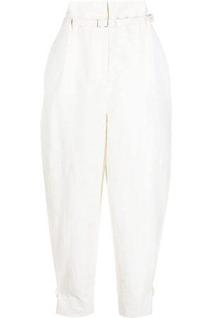 Stella McCartney Pantalones de talle alto ajustados