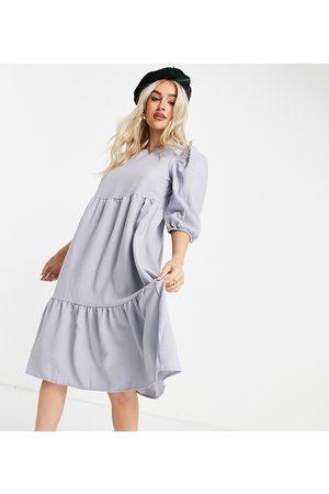 ONLY Vestido midi amplio con diseño escalonado de -Violeta