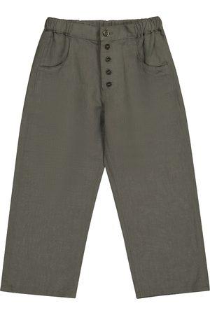 Caramel Pantalones Barnacle de lino