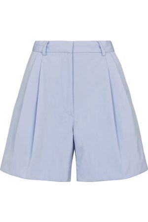 DRIES VAN NOTEN Shorts de algodón de tiro alto