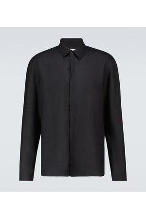COMMAS Camisa de lino de manga larga