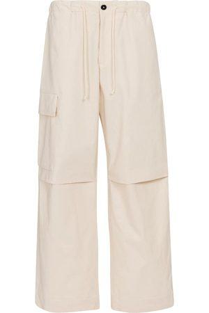 Jil Sander Pantalones cargo anchos de algodón