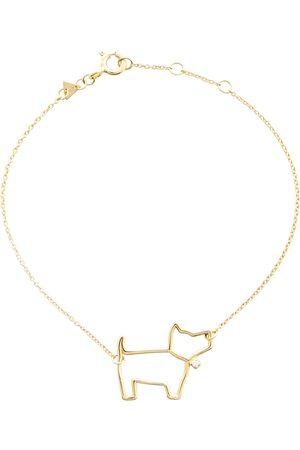 Aliita Pulsera Perrito Brillante de oro de 9 ct con diamante