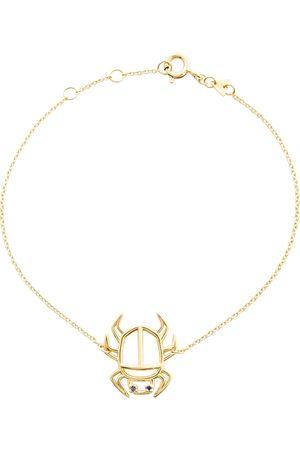 Aliita Pulsera Escarabajo Zafiro de oro 9 ct con zafiros