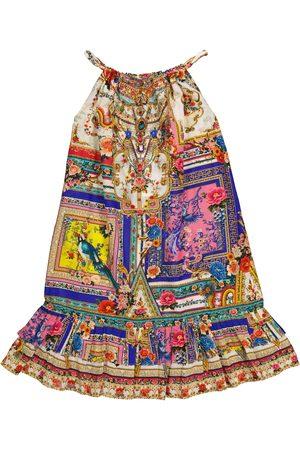 Camilla Vestido de algodón y seda estampado