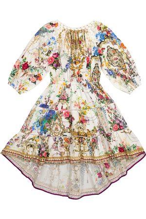 Camilla Vestido de algodón floral adornado