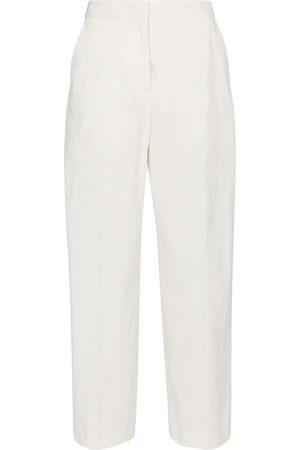 Jil Sander Pantalones rectos mezcla de algodón