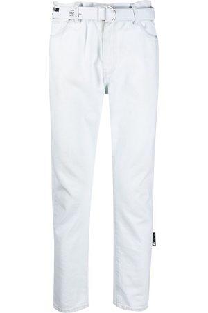 OFF-WHITE Vaqueros rectos de talle medio