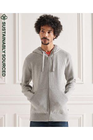 Superdry Hombre Sudaderas - Sudadera de algodón orgánico con capucha y cremallera Essential